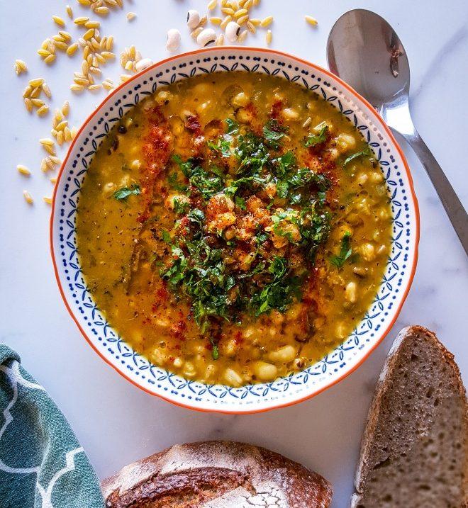 Machena- kurdisk bönsoppa, 1,5 h, 4-6 portioner