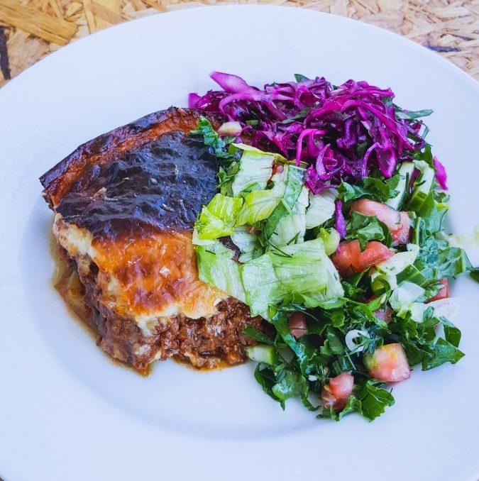 Grekiskt: Moussaka 6 portioner, ca 2 timmar
