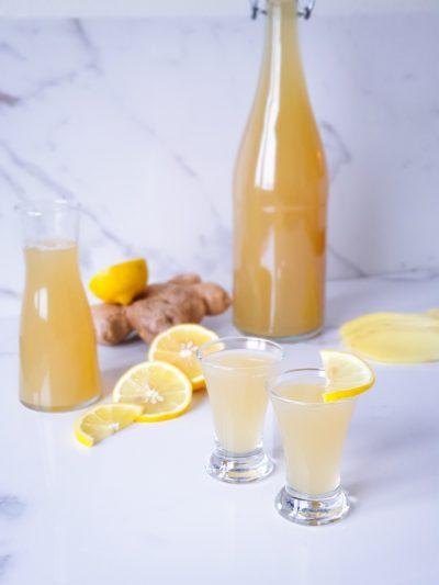 Ingefärsshot med citron och honung